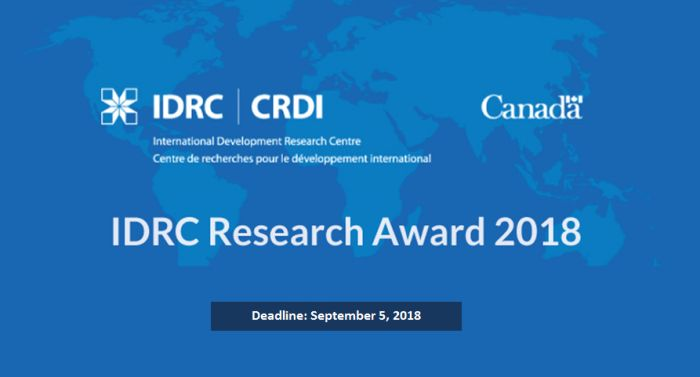IDRC Research Awards for Masters, Ph.D., and Post-doctoral Students