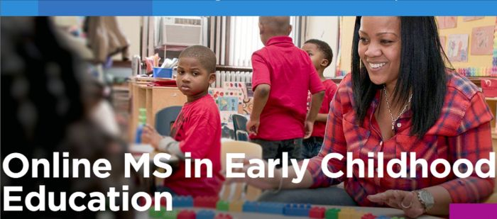 Online Master of Science in Early Childhood Education Programs