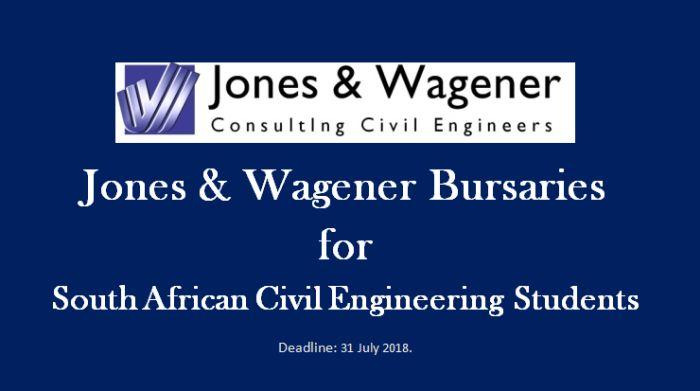 Jones & Wagener Bursaries for South African Civil Engineering Students