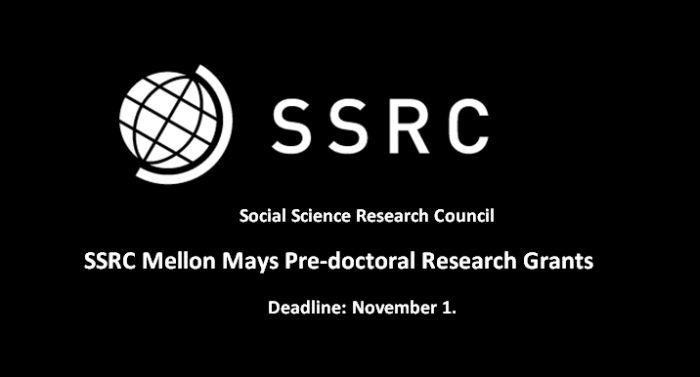 SSRC Mellon Mays Predoctoral Research Grants
