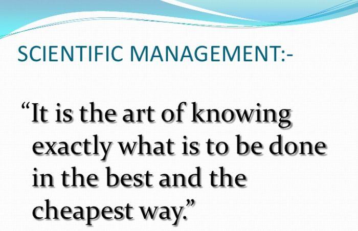 The 4 Principles of Scientific Management