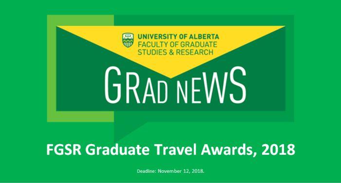 FGSR Graduate Travel Awards, 2018