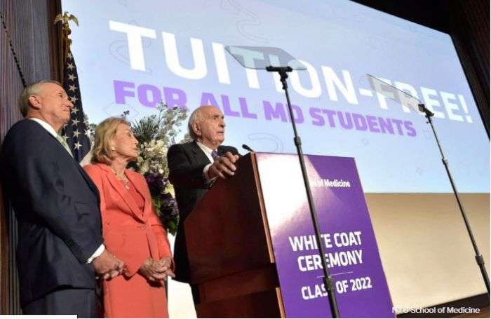New York University will offer Free Tuition for Medical Students