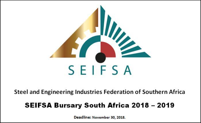 SEIFSA Bursary South Africa 2018