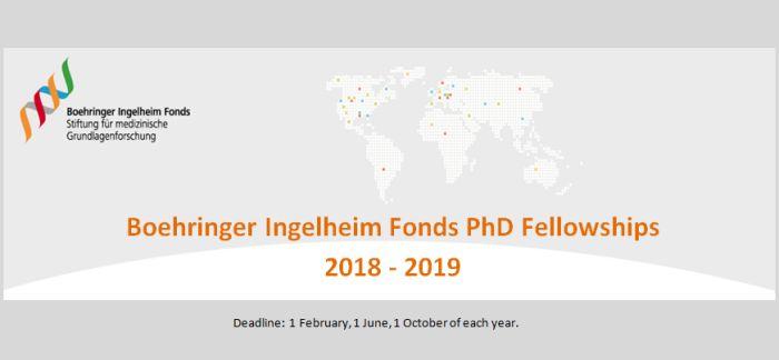 Boehringer Ingelheim Fonds PhD Fellowships