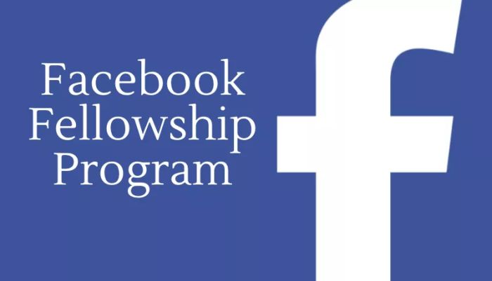 Facebook Fellowship Program 2018