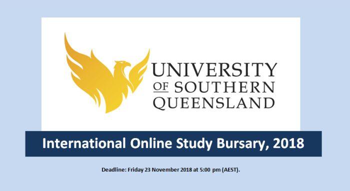International Online Study Bursary, 2018