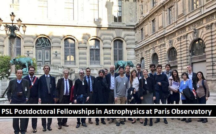 PSL Postdoctoral Fellowships in Astrophysics at Paris Observatory
