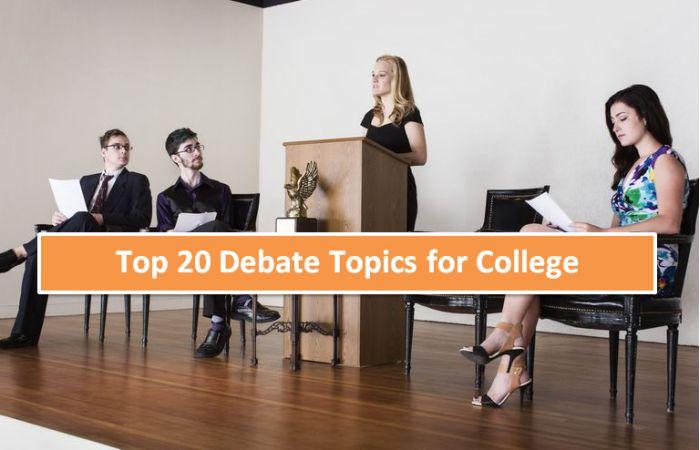 Top 20 Debate Topics for College Students