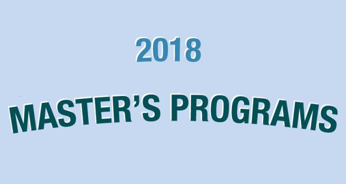 Top Master Programs 2018-19