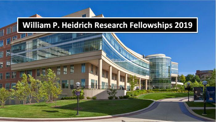 William P. Heidrich Research Fellowships 2019