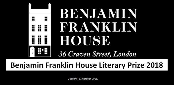 Benjamin Franklin House Literary Prize 2018