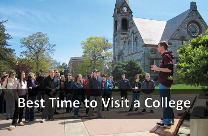 Best Time to Visit a College