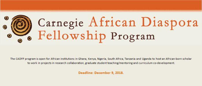 Carnegie African Diaspora Fellowship Program