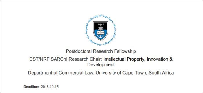 DST/NRF Postdoctoral Research Fellowship