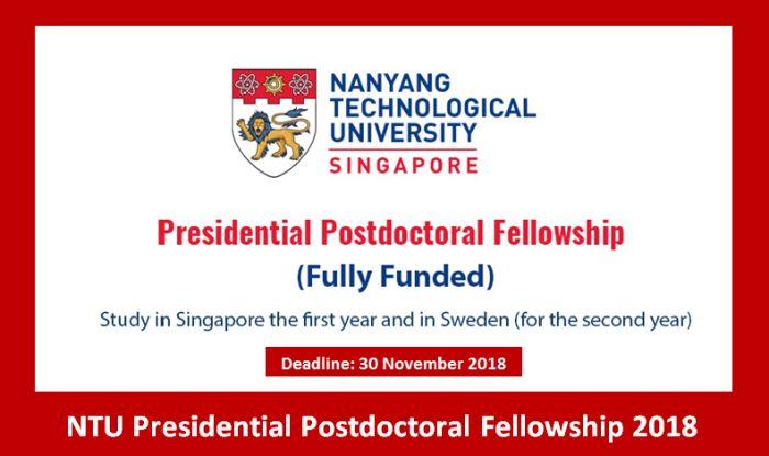 NTU PresidentialPostdoctoral Fellowship