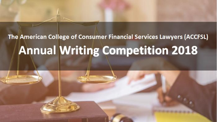 ACCFSL Writing Competition 2018