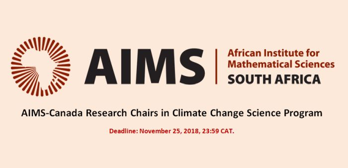 AIMS-Canada Research Chairs in Climate Change Science Program