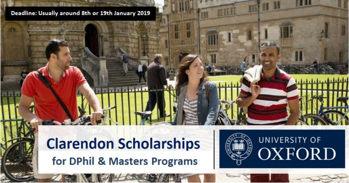 Clarendon Fully Funded International Scholarships 2019