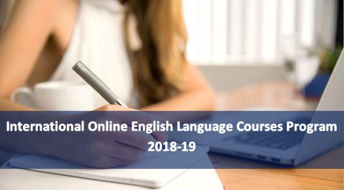 International OnlineEnglishLanguage Courses Program 2018-19