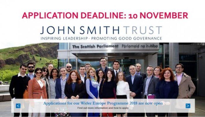 John Smith Trust Wider Europe Fellowship 2019