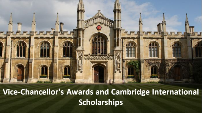 Vice-Chancellor's Awards and Cambridge International Scholarships