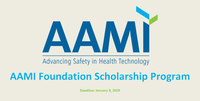 AAMI Foundation Scholarship Programs