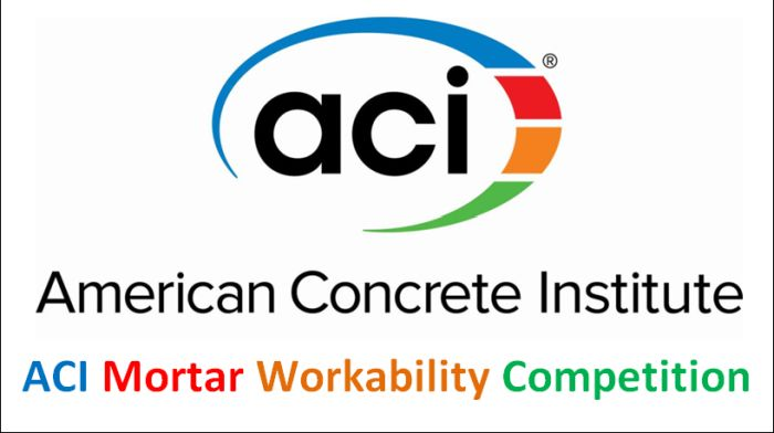 ACI Mortar Workability Competition