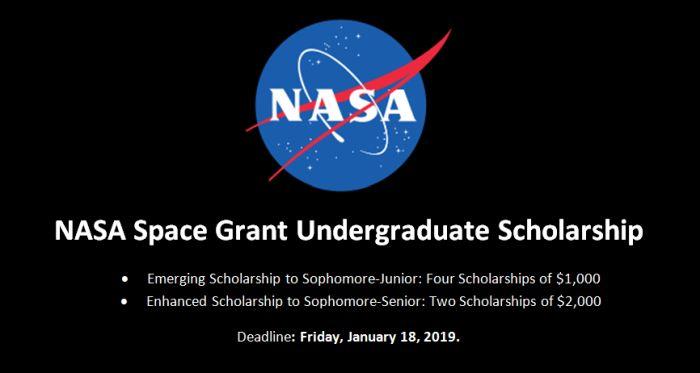 NASA Space Grant Undergraduate Scholarship