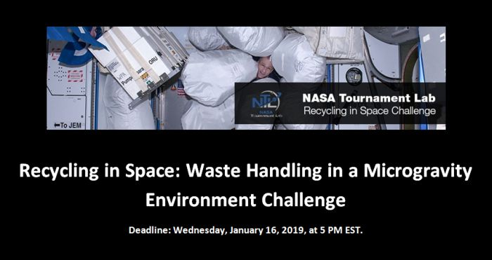 Recycling in Space Waste Handling in a Microgravity Environment Challenge