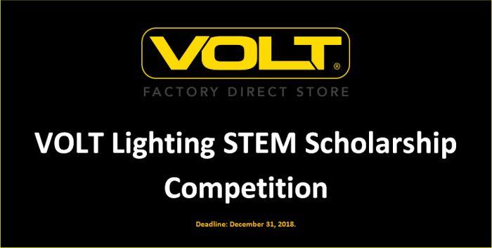 VOLT Lighting STEM Scholarship Competition