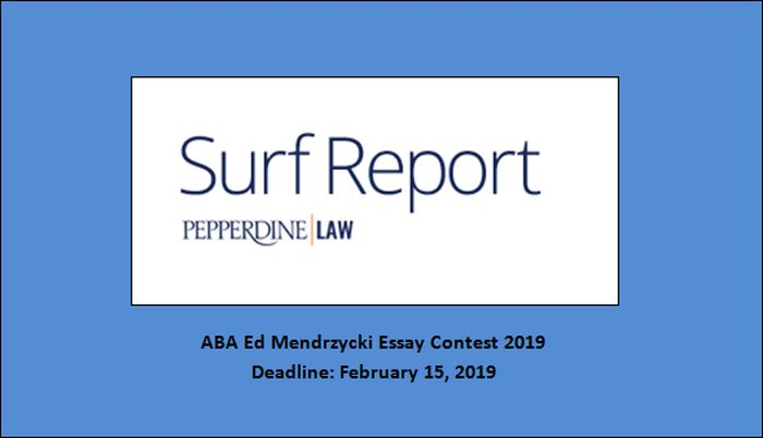 ABA Ed Mendrzycki Essay Contest 2019