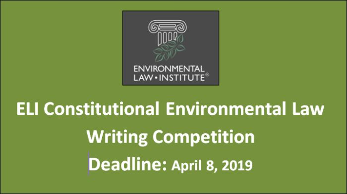 ELI Constitutional Environmental Law Writing Competition