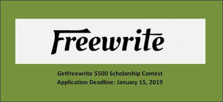 Getfreewrite $500 Scholarship Contest