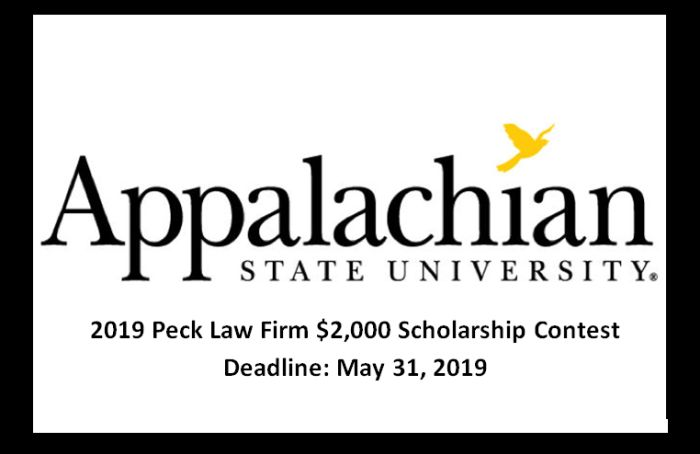 Peck Law Firm $2,000 Scholarship Contest