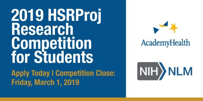 HSRProj Research Competition for Students: Identifying Research Gaps in HSR