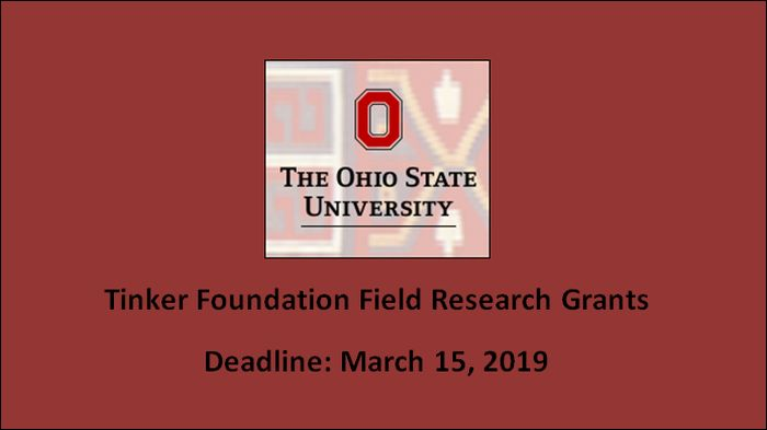 Tinker Foundation Field Research Grants