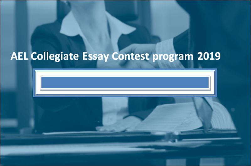 AEL Collegiate Essay Contest program 2019