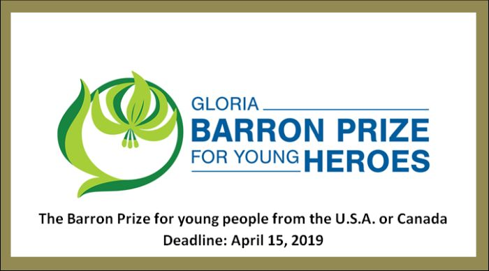 The Barron Prize for young people from the U.S.A. or Canada