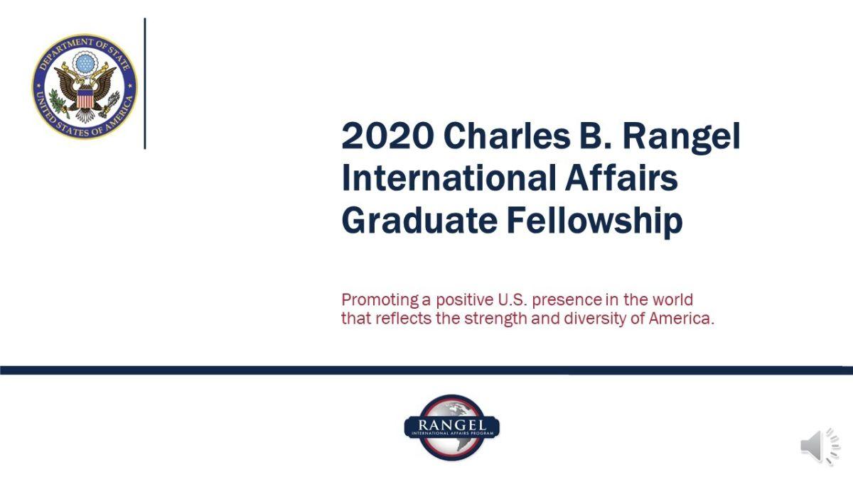 Charles B. Rangel International Affairs Graduate Fellowship