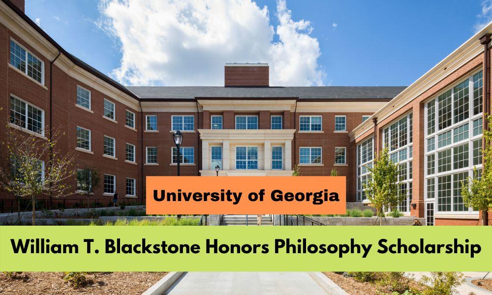 William T. Blackstone Honors Philosophy Scholarship