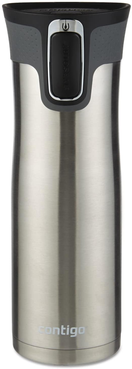 Contigo Autoseal West Loop Vacuum-Insulated Travel Mug, 20 Oz, Stainless Steel