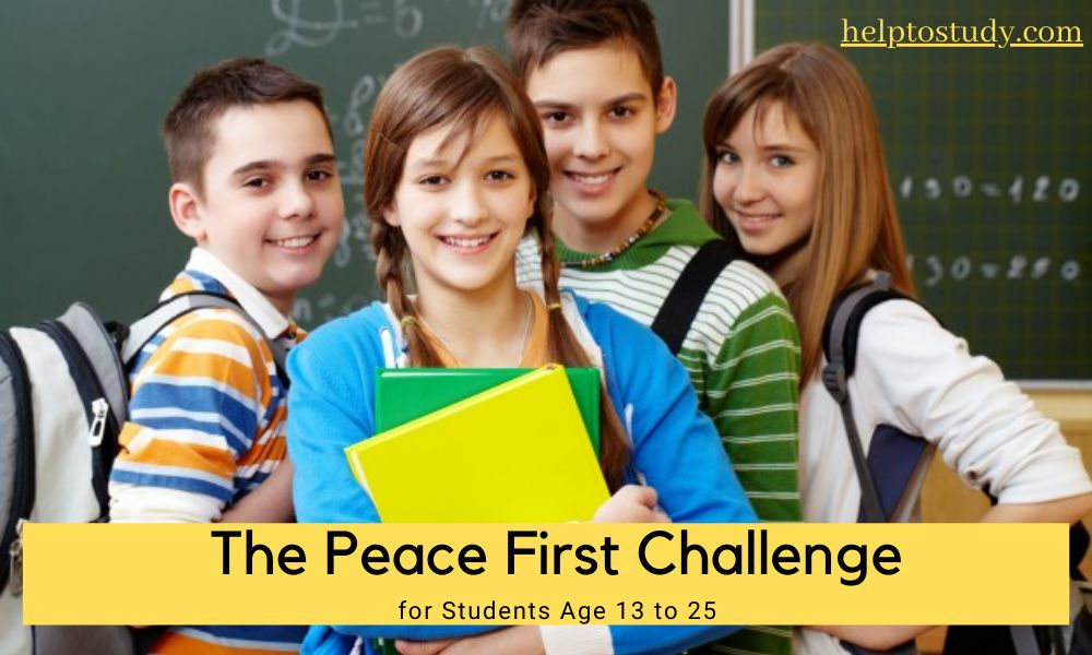 The Peace First Challenge for Students Age 13 to 25