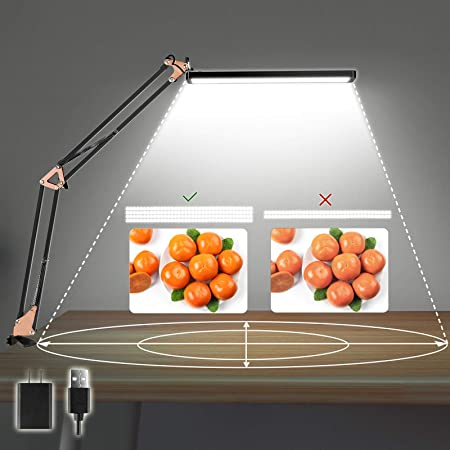 Axuf Long-Lasting Desk Lamp with Clamp