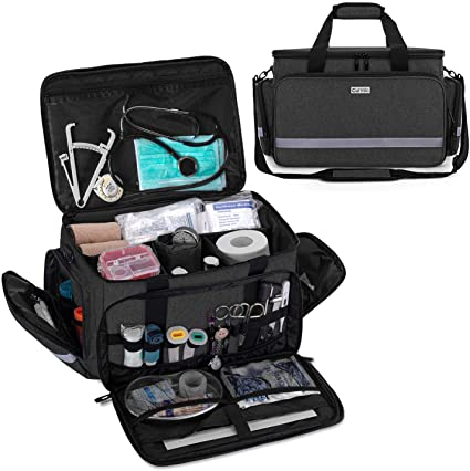 Carmio Nurse Medical Bag with Removable Inner Dividers