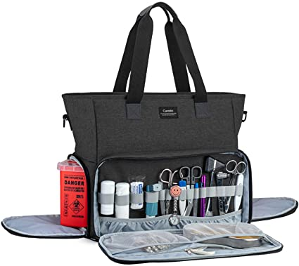 Curmio Nursing Bag with Padded Laptop Sleeve for Home Visits