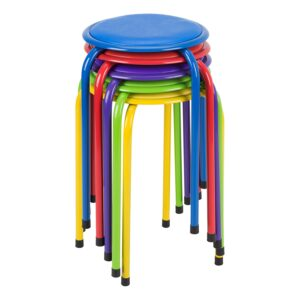 Fat Catalog Metal Stack Stools with Padded Seat