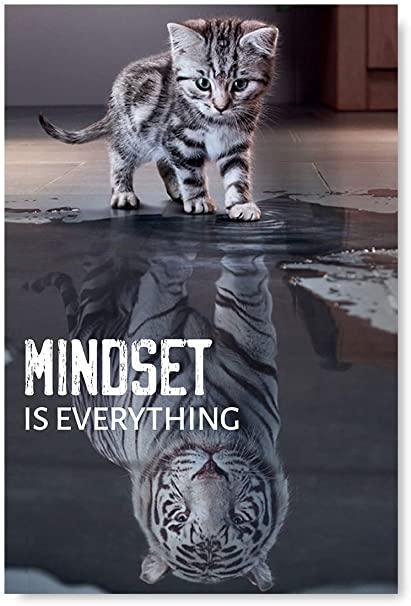 Mindset is Everything Motivational Poster