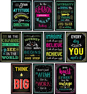 Multi-Coloured Stain Resistant Inspirational Posters