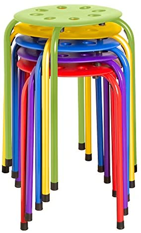 Norwood Assorted Color Stacking Stools